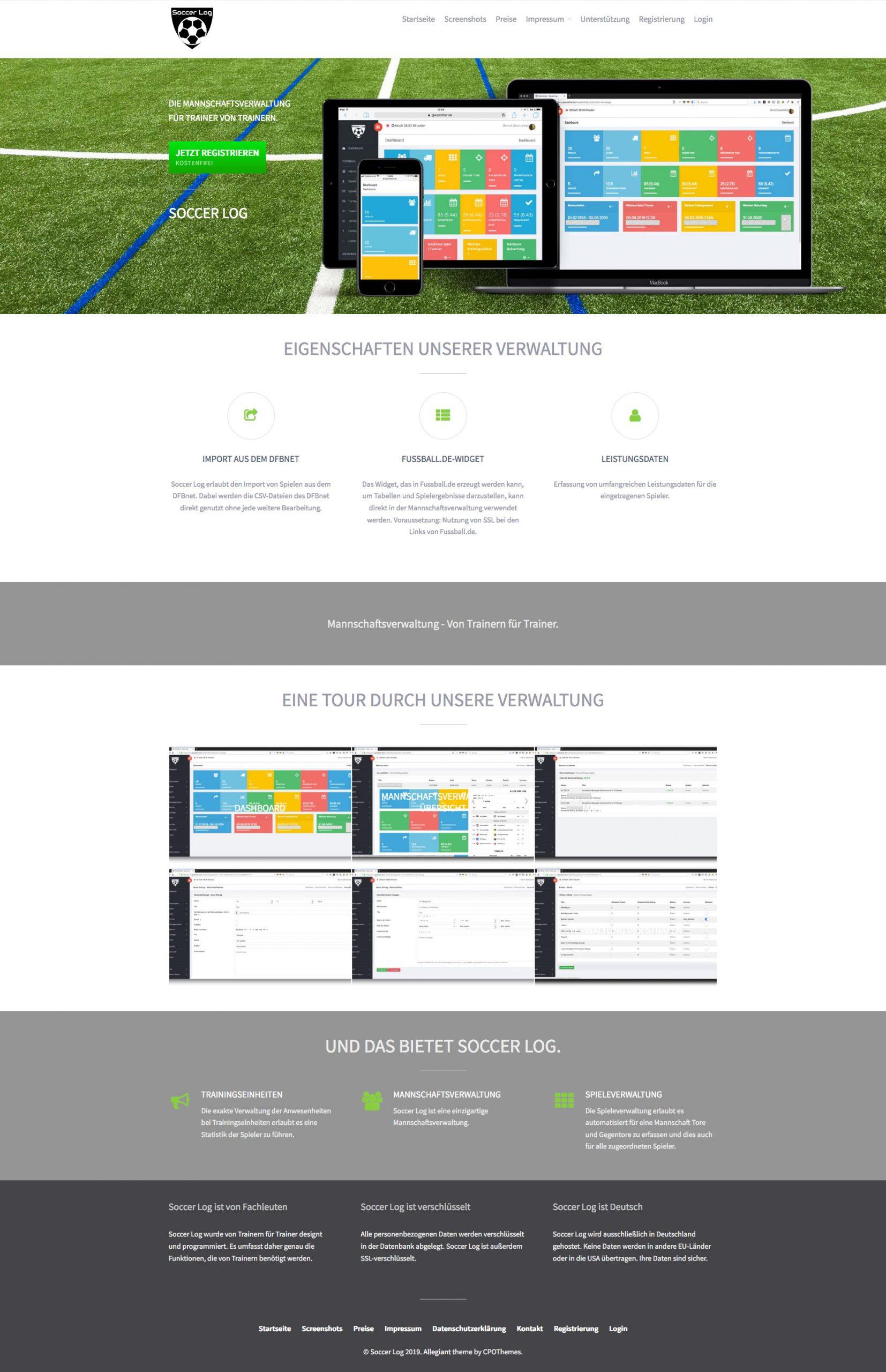 Soccer Log